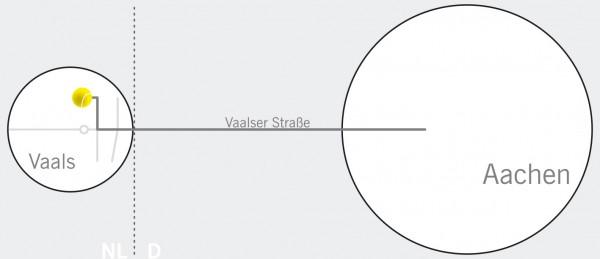 TennisHalle Vaals - Anfahrtskizze